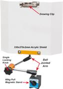Safety Shield with Drawing Clip - 60kg Pull Magnetic Stand