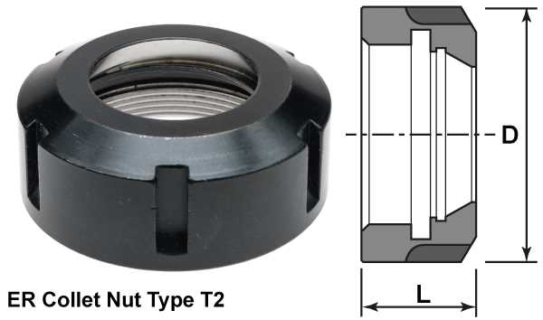 ER Collet Nuts - Type T2