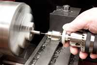 Micro Drill Adaptor - In use in a lathe tailstock