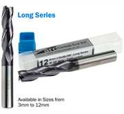 3 Flute Carbide End Mill - Long Series - TiAlN Coated
