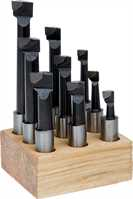 9pc Carbide Tipped Boring Cutter Set - 12mm shank