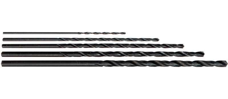 Long Series HSS Black Drill Bit Set A - Pack of 1 each: 1.0 - 3.0mm in 0.5mm inc.