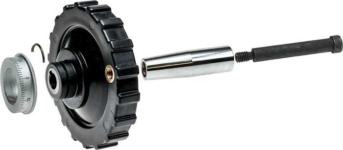 80mm Plastic Handwheel Assembly with Micrometer Dial