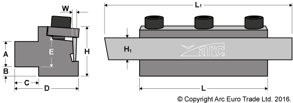 Parting Off Blocks with M42 HSS-Co8 Blade - Diagrams