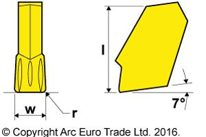 GTN TiN Coated Carbide Inserts - Diagrams