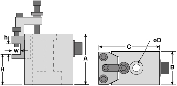 C1 Quick Change Tool Post Drawing