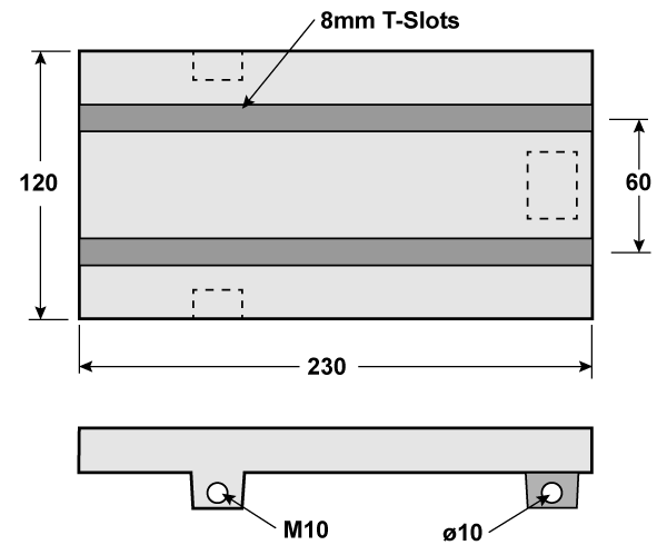 Milling table drawing