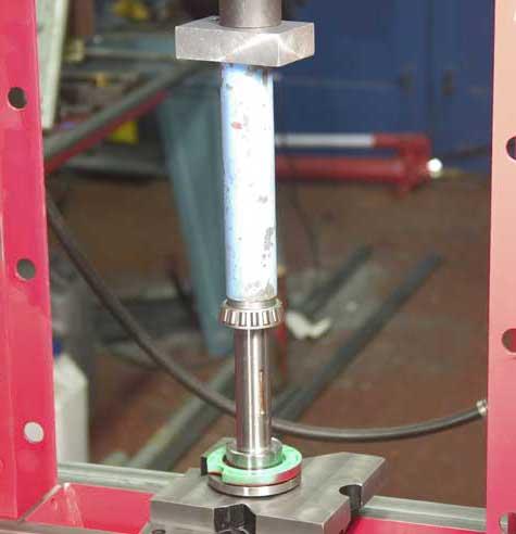 Press on new bearing inner