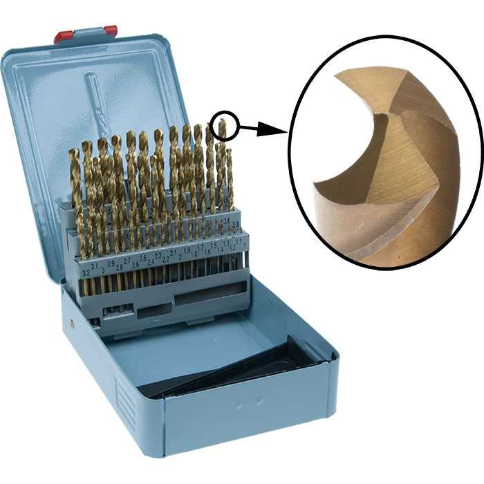 51pcs Drill Set TiN Fully Ground - 1.0 - 6.0mm