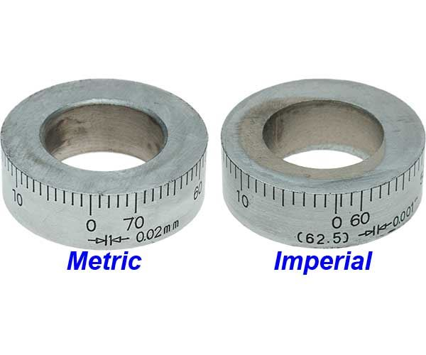 X2-4 Metric and Imperial Micrometer Dials