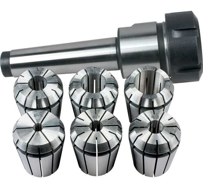 ER32/MT3 Milling Collet Chuck Set with 6 Collets