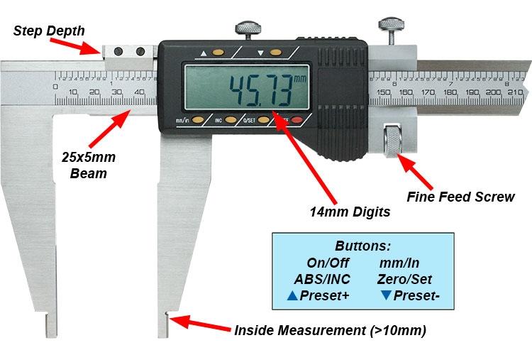 Large Digital Calipers - 500mm & 600mm - Arc Euro Trade