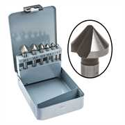 6pc High Speed Steel Single Flute Countersink Sets
