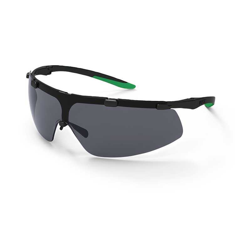 uvex super fit Infradur Plus - Black/Green - Grey Lens - Welding Prot. 3 (U9178-043)