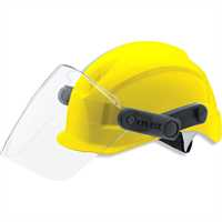 uvex pheos BS-W-R Yellow Safety Helmet with Mechanical Visor