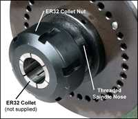 Stevenson's 5C Indexing Head with ER32 Nut and Adaptor
