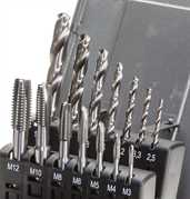 HSS-Co5 Spiral Point Machine Tap Set and Drill Set M3-M12