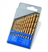 HSS TiN Coated Drill Bits 13pc Set Flat Pack