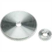 Mini-Lathe 25 Tooth and 75 Tooth Metal Gearwheels