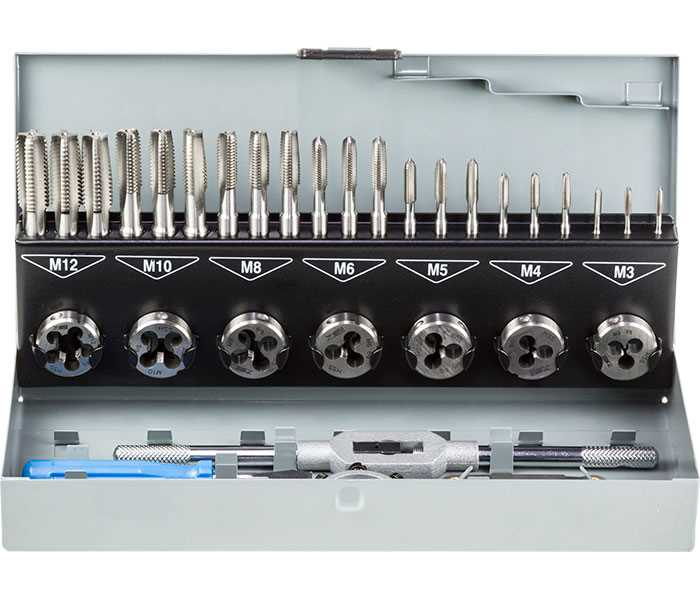 HSS Metric Tap & Die Set  - 32pc - M3-M12