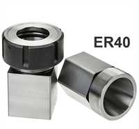 Stevenson's ER40 Square & Hex Collet Block Set with 1x Ball Bearing Collet Nut
