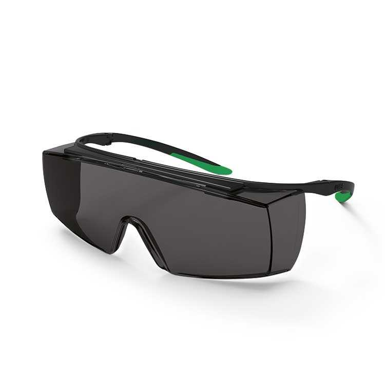 uvex super f OTG Infradur Plus - Black/Green Frame - Grey Lens (U9169-545)
