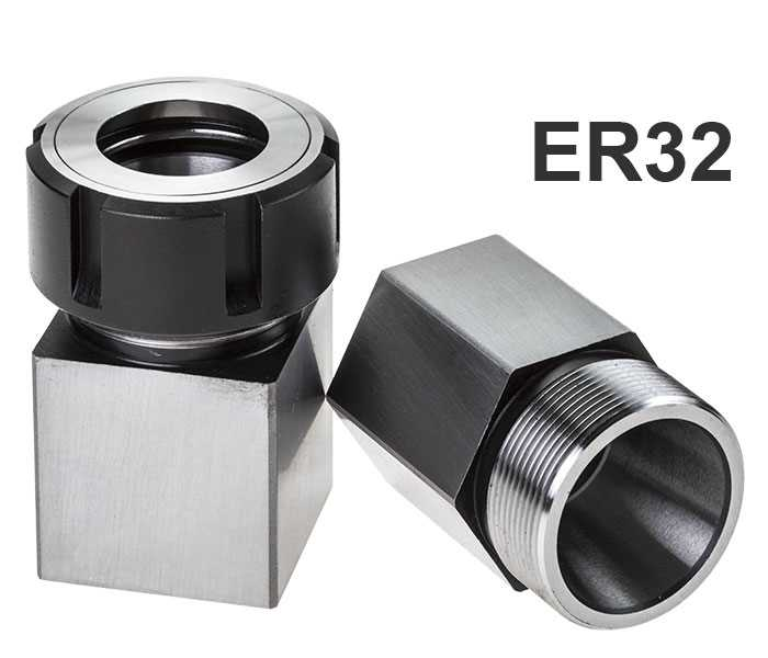 Stevenson's ER32 Square & Hex Collet Block Set with 1x Ball Bearing Collet Nut