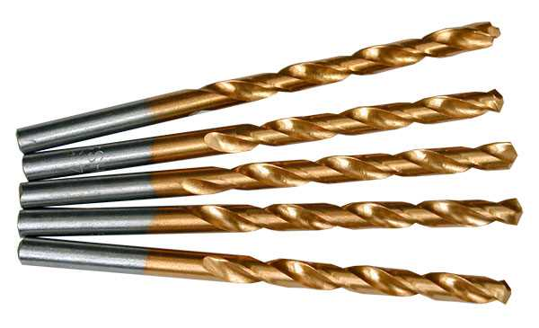 HSS TiN Coated Drills 4.0-4.9mm