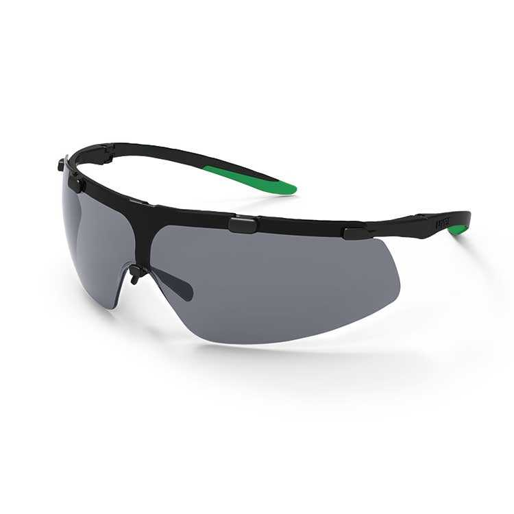 uvex super fit Infradur Plus - Black/Green - Grey Lens - Welding Prot. 1.7 (U9178-041)