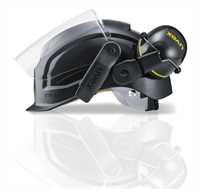 uvex pheos B-S-WR Black Helmet with Magnetic Visor (Earmuffs are an optional accessory sold separately)