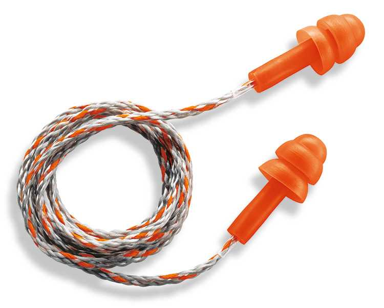 uvex whisper Corded Reusable Plugs - SNR 23 - 50prs. M (U2111-237)