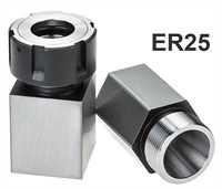 Stevenson's ER25 Square & Hex Collet Block Set with 1x Ball Bearing Collet Nut