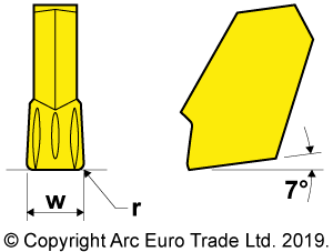 GTN TiN Coated Carbide Inserts - Diagrams