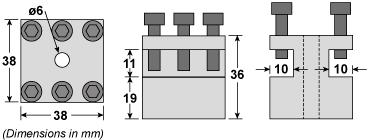 C0 2 Way Tool Post Dimensions