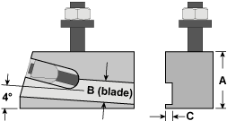 Parting Blade Toolholder Drawing
