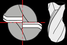 2 flute ball nose