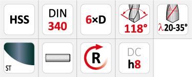Dormer A110 Long Series HSS Drills
