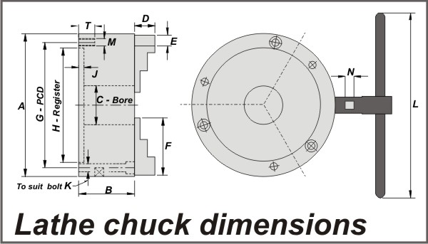Chuck Dimension Diagram