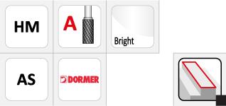 Dormer P501 Carbide Burrs - Cylinder without Endcut