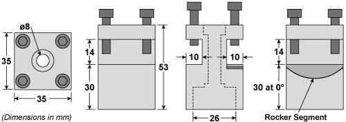 C1 Rocker Tool Post Dimensions