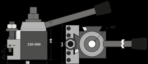 Model 000 QCTP + Standard Toolholder Drawing
