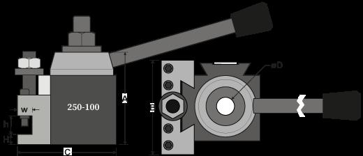 Model 100 QCTP + Slim Toolholder Drawing